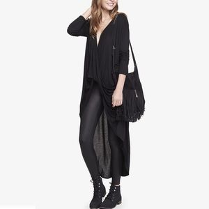 Express Black Surplice Wrap Long Sleeve Tee XS
